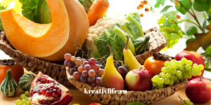 Полезная еда, овощи и фрукты