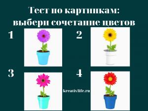 Тесты с выбором картинки
