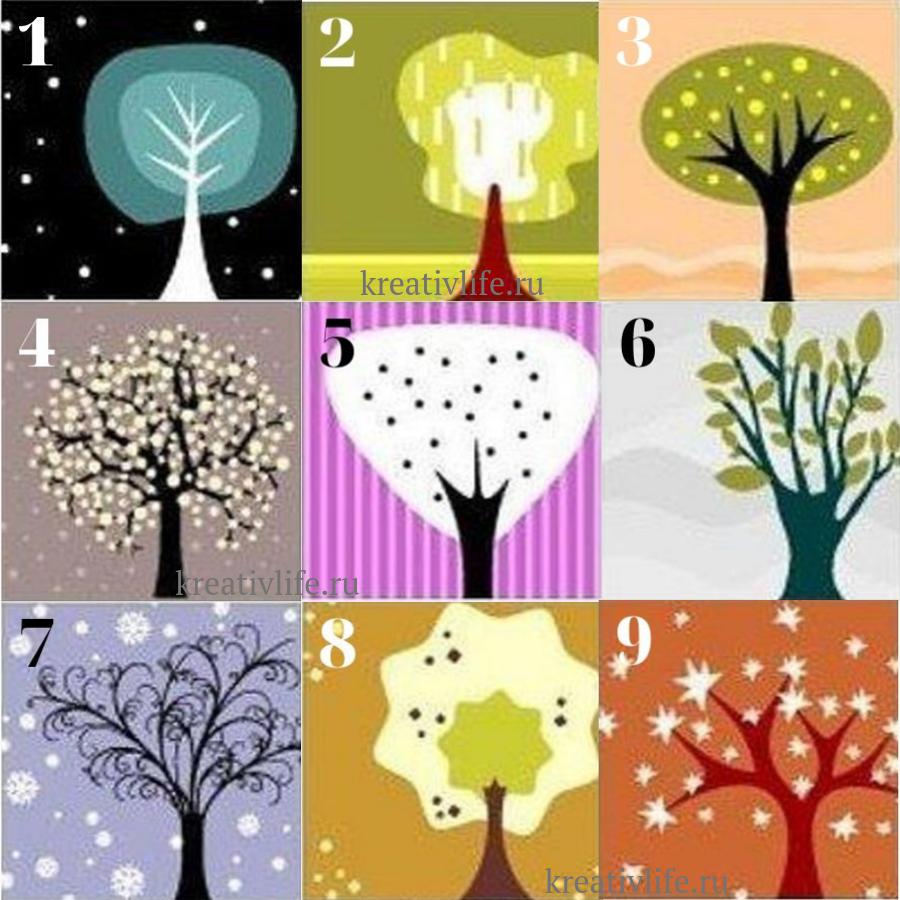 психологический тест по картинкам нарисуй дерево признаться, первые