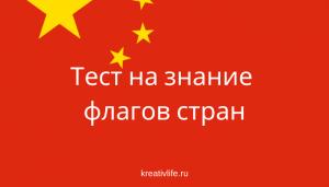 Тест на знание флагов стран