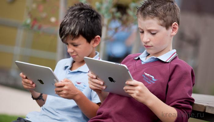 Дети и гаджеты планшет
