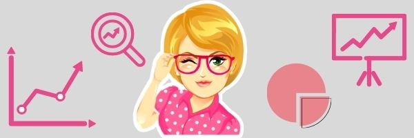 Умная девушка в очках нарисованная
