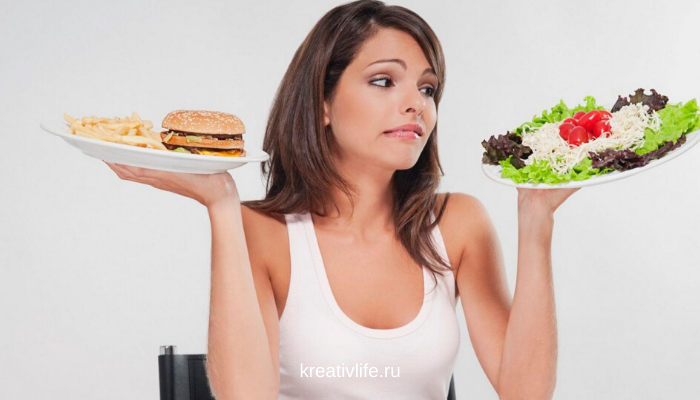 Здоровые и вредные продукты. Как девушке есть и не толстеть