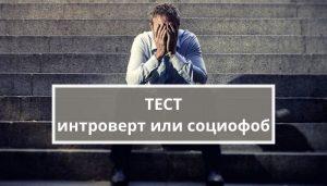 Тест: интроверт или социофоб