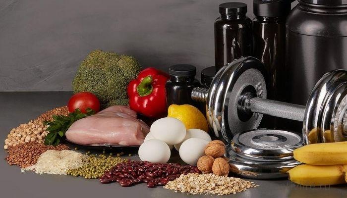 Еда, тренировка ,диета. похудение, спорт