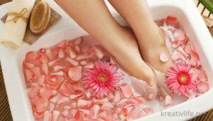 Ванночки для ног чтобы снять усталость и отек