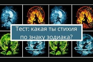 Тест «Какая ты стихия по знаку зодиака?»