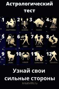 Астрологический тест онлайн