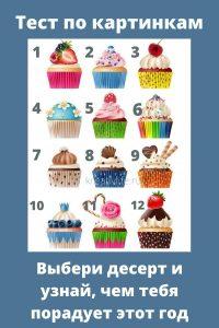 "Тест по картинкам: ""Выбери десерт"""