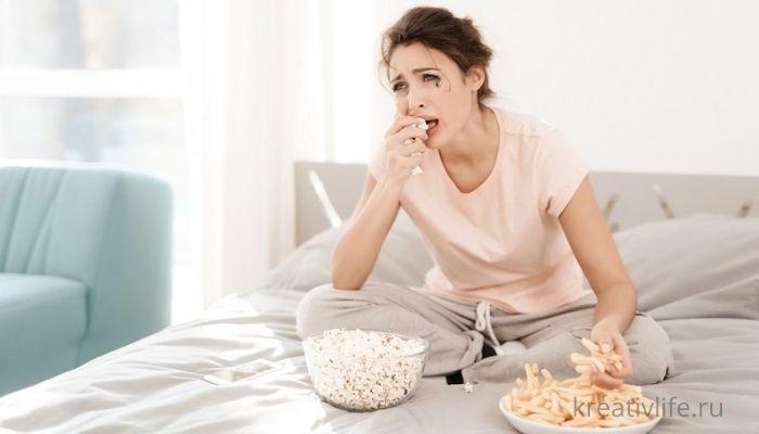 Как стресс провоцирует переедание