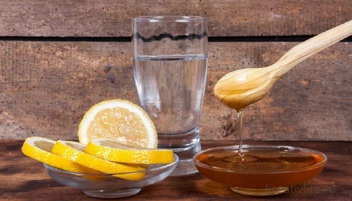 Вода с медом и лимоном