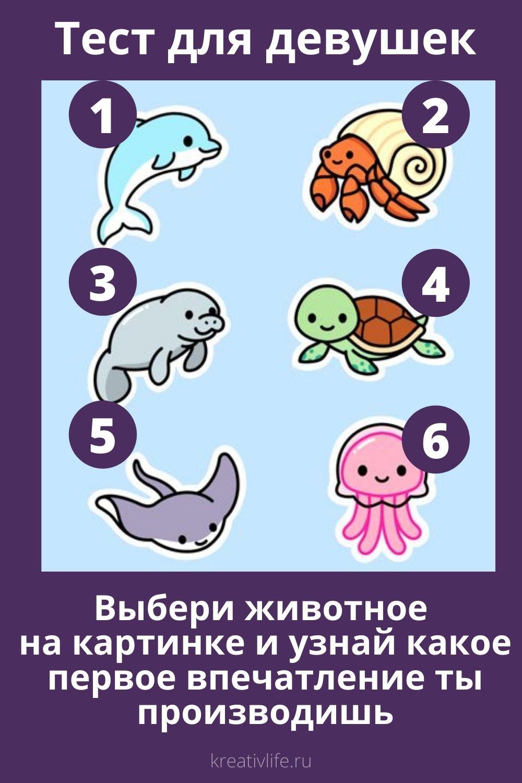 Тест для девушек выбери животное и узнай какая тына первый взгляд