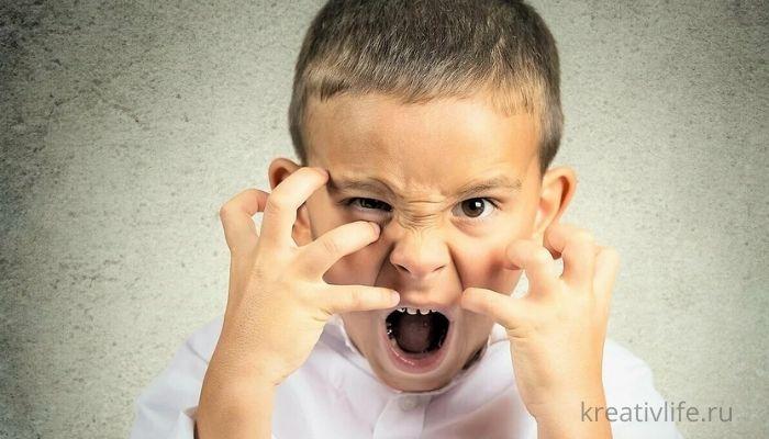 Ребенок нервничает и психует