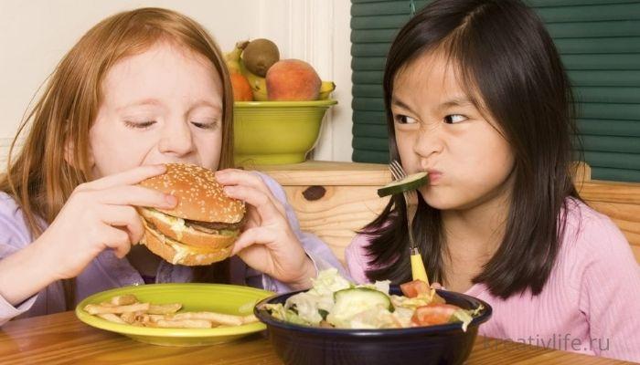 Выбор полезного питания для детей и подростков