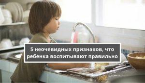 5 неочевидных признаков, что ребенка воспитывают правильно
