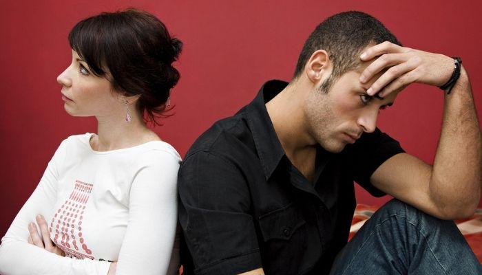 Ссора влюбленных мужчины и женщины.