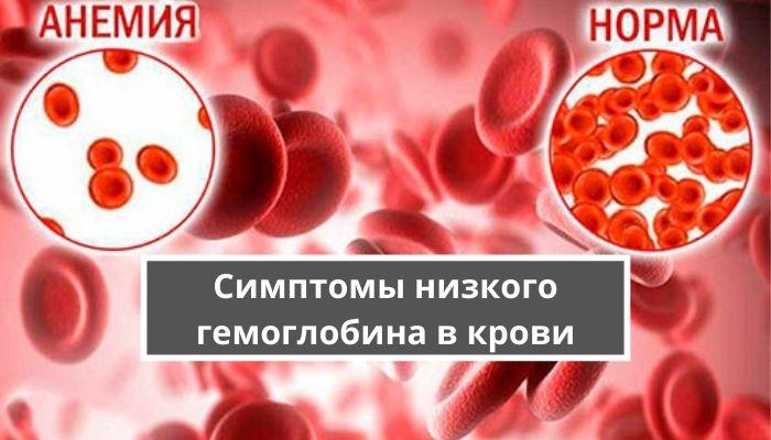 Симптомы низкого гемоглобина в крови